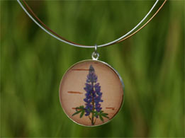 Lupine  Silver Necklace