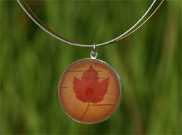 Maple Leaf Silver Necklace