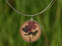 Wild Rose Silver Necklace